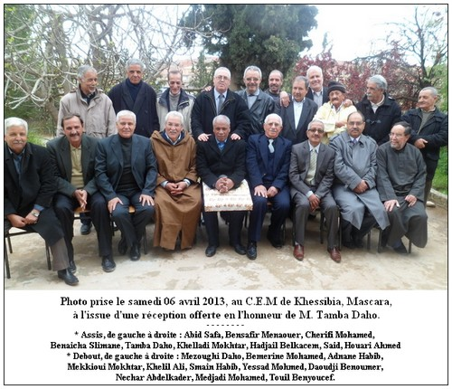 Réception en l'honneur de M. TAMBA Daho Tamba-3d4bdd3
