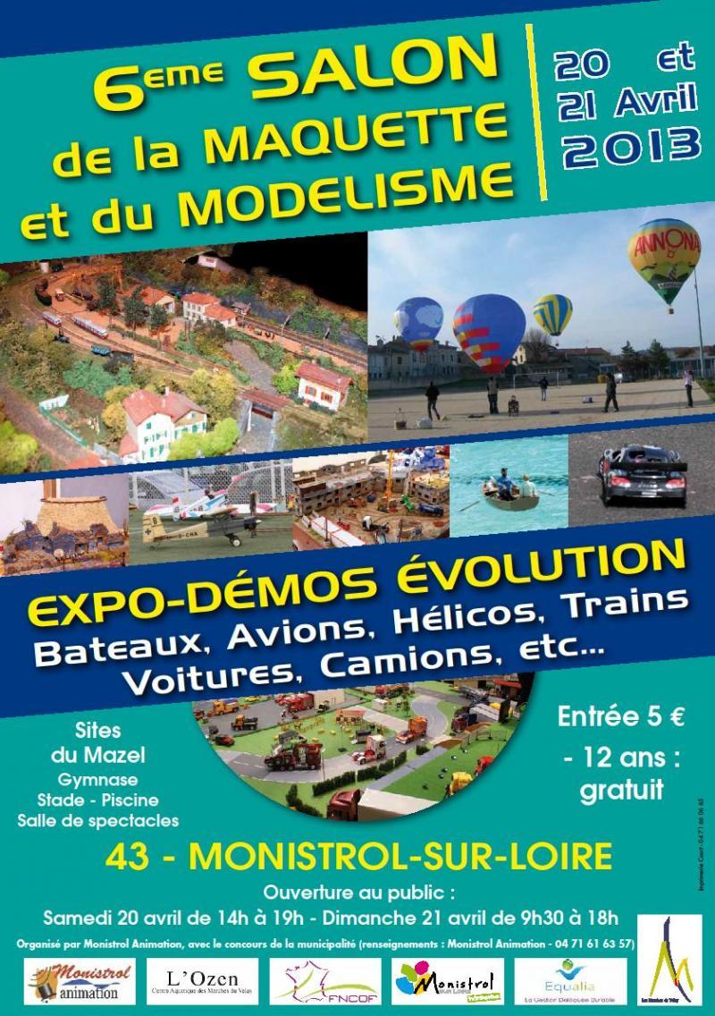 Salon de la Maquette et Modélisme MONISTROL/LOIRE 20 et 21 avril 2013 Monistrol-2013-3c9e866