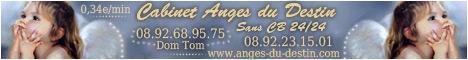 Anges du Destin voyance précise sur tout sujets sans CB et aussi dans les Dom Tom 0892689575 0,34e/min